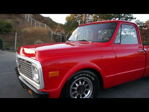 0 1972 Chevy C10 pickup truck Short Box New paint Interior FOR SALE