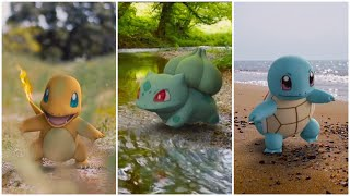 Bulbasaur, Charmander & Squirtle IN REAL LIFE - Kanto Starters Pokémon (The World Of Pokémon)