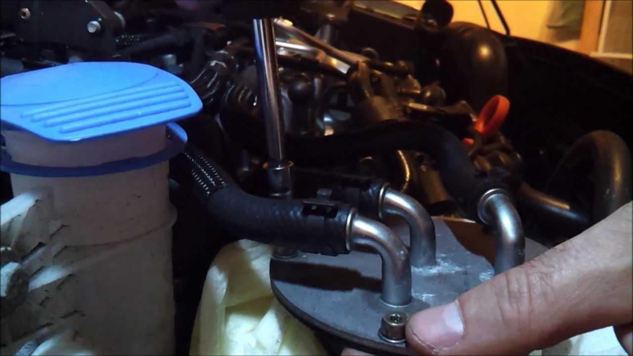 2012 - 2014 Passat TDI - Fuel Filter Change Procedure - YouTube