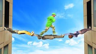 HUMAN BRIDGE TIGHTROPE CHALLENGE! (GTA 5 Funny Moments)