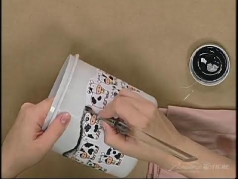 Passo a Passo Decoupage de Tecido em Plastico Pinctore Tigre