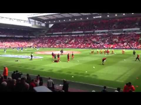 JAMIE CARRAGHER LAST EVER EVER GAME FOR LIVERPOOL