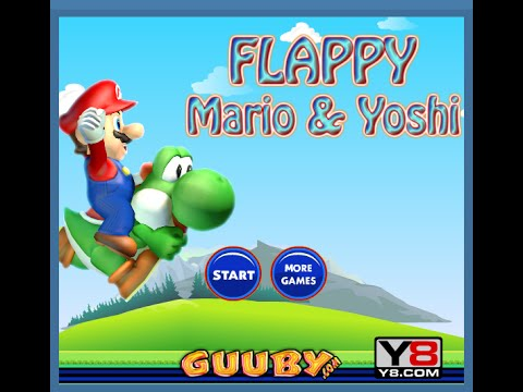 Mario and Yoshi Flappy Bird Game - Mario Games - Flappy Birds