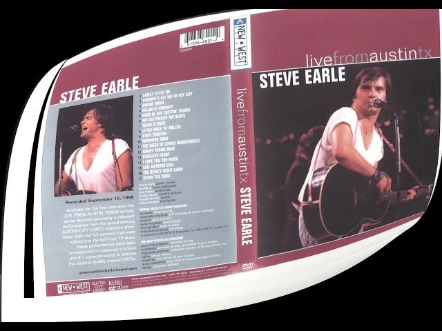 Steve Earle Live From Austin Tx Sep 12-86