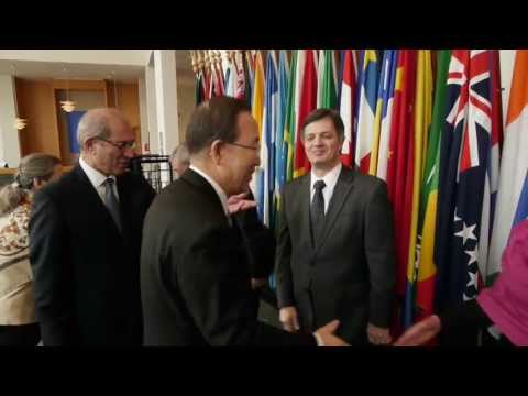 Ban Ki-moon visits the OPCW