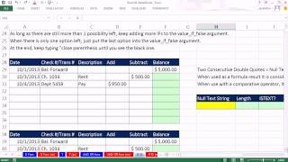 Highline Excel 2013 Class Video 15: IF & IS Functions To Deliver Numbers, Text, Formulas, Nested IFs