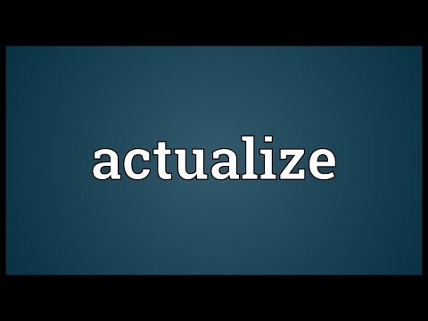 Header of actualize