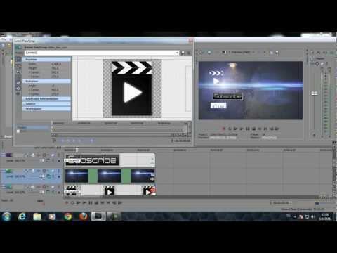 วิธีการทำ ไตเติล (Outro)   Style 1   Sony Vegas Pro
