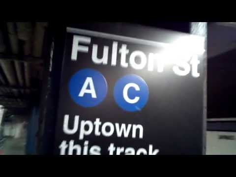 MTA NYC Subway: 207 St. bound R46 (A) train arriving at Fulton St.