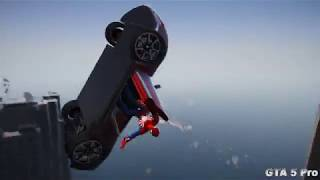GTA 5 Water ragdolls | SPIDERMAN Jumper/Falls Compilation (Euphoria physics FunnyMoments)