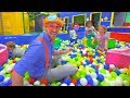 Learn Colors and Learn Shapes with Blippi | Educational Indoor Play Place