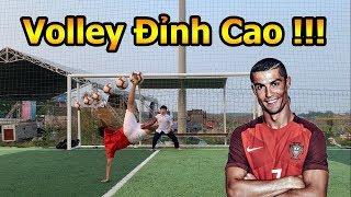Thử Thách Bóng Đá mùa Asian CUP 2019 sút Vô Lê như Ronaldo với Quang Hải Nhí và bóng của Messi