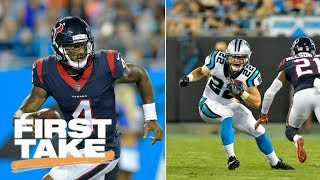 Deshaun Watson Or Christian McCaffrey: Who Has The Better Rookie Season? | First Take | ESPN