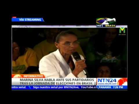 Tras quedar tercera, Marina Silva dice que Brasil votó por el