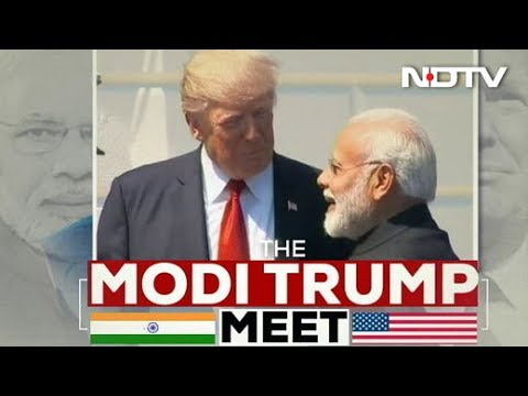 President Trump Greets PM Modi With Handshake At White House