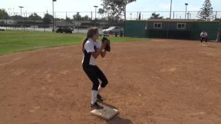 Alexandra Cruz Softball Skills Video
