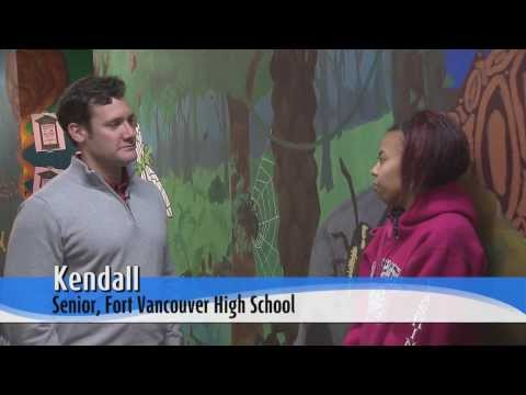 Mayor goes back to the future at Fort Vancouver High School