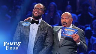 Gerald McCoy & Stefon Diggs play Fast Money | Celebrity Family Feud