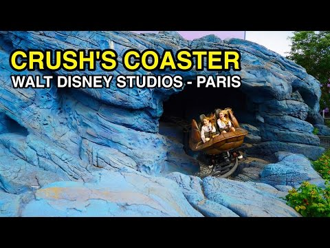 [4K] Crush's Coaster - Dark Sea Spin : Walt Disney Studios (Paris, France)