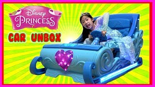 I MAILED MYSELF to Kaycee & Rachel in Wonderland and it WORKED! Disney Princess Ride On Car Unbox