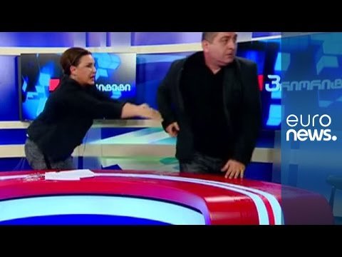 Round 2! Another Fight Breaks Out Between Georgian Parliamentary Candidates Live On TV