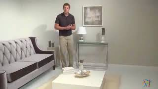 Euro Style Sandor Console Table Clear   Product Review Video