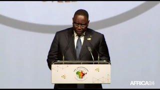 Macky SALL lors du Sommet Inde-Afrique à New Delhi (Inde)