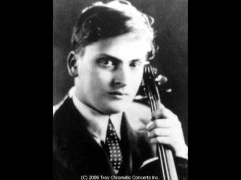 Yehudi Menuhin plays the dance of the goblins by bazzini
