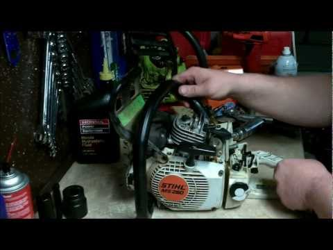 STIHL CHAINSAW REPAIR : how to diagnose and perform a crankcase leakage (pressure and vaccuum test)