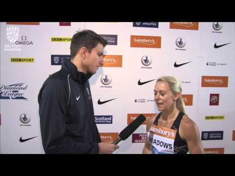 Jenny Meadows pleased to she picked up the pace in the 800m