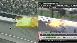 Bourdais & Smiley Crash Comparison (Side By Side)