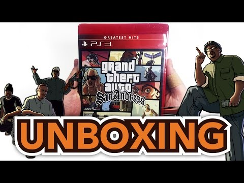 Grand Theft Auto: San Andreas (PlayStation 3) Unboxing!!