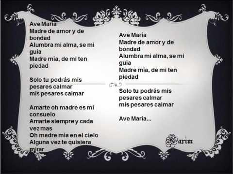Ave María - Pista con letra en español