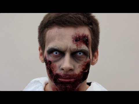 zombie make up tutorial for halloween sfx zombie. Black Bedroom Furniture Sets. Home Design Ideas