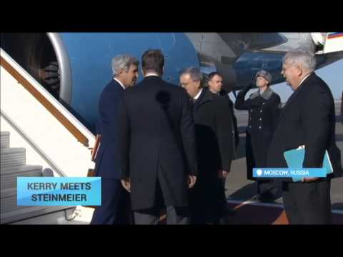 Kerry Meets Steinmeier Before Talks With Putin: Russia's plans in Syria are to dominate talks