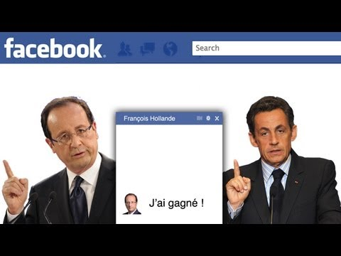 Hollande parle avec Sarkozy sur Facebook