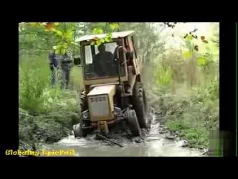 Нелепые и смешные ситуации с трактористами. Большие машины! Часть 3