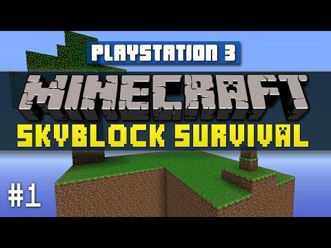 Minecraft PS3 SKYBLOCK Survival #1 with Vikkstar Minecraft Playstation 3 Edition Sky Block