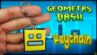 Geometry Dash Keychain ✰ Tutorial ✰ Polymer Clay ✰ Porcelana Fría