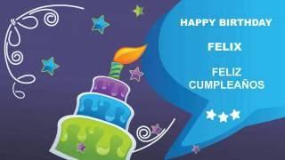 Felix pronunciacion en espanol   Card Tarjeta62 - Happy Birthday