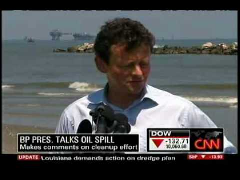 Tony Hayward - Top BP exec visits his spilled oil. It breaks his little heart