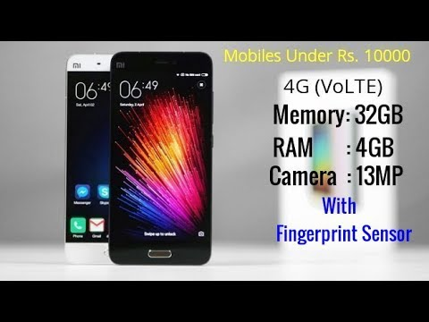 Top 4G Mobiles Under 10000 budget 2017|  Samsung | Apple |  Vivo | Xiaomi
