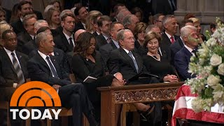 Michelle Obama Explains Viral Cough Drop Moment With George W. Bush | TODAY  from TODAY