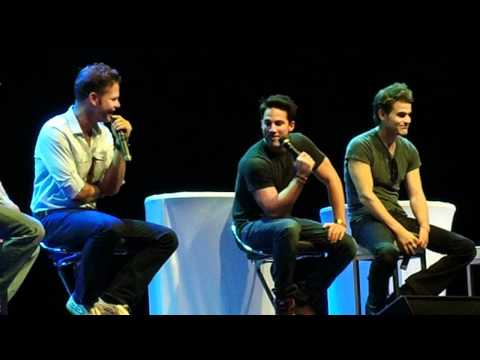 Matt Davis, Michael Trevino and Paul Wesley describing each other in 3 words