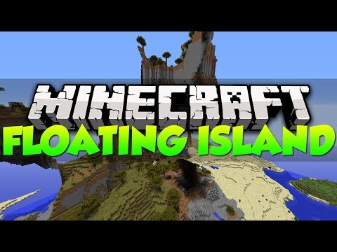 Minecraft Best Seeds - HUGE FLOATING ISLAND   1.7.4 (HD)
