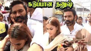 திருப்பதியில் Dhanush Aiswarya Dhanushஐ Torture செய்த ரசிகர்கள் Dhanush At Thirupathi Tamilnews