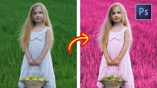 [ Photoshop Tutorials ] Fantasy Pink Color Effects - Change Color