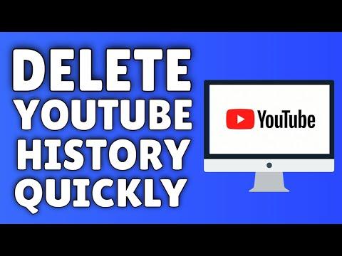 how to delete yiutube history