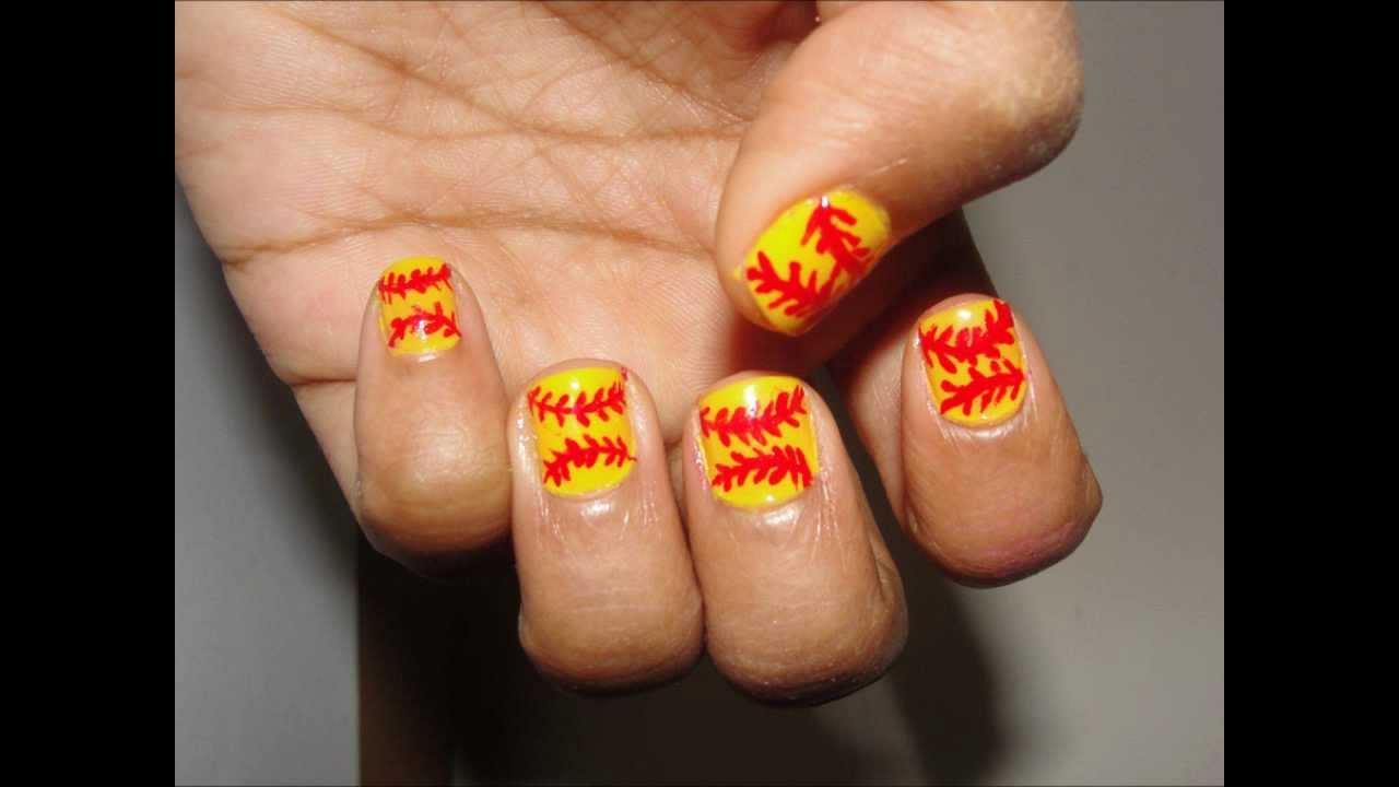 Nail Designs For Softball : Softball nail art - Nail Designs For Softball ~ Softball Nail Designs Nails