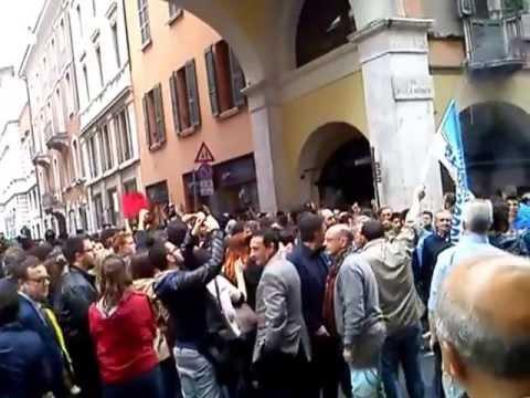 Manifestazione PDL Berlusconi Brescia